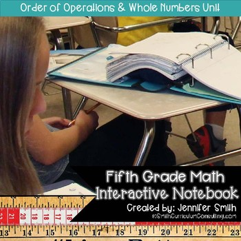 Fifth Grade Math Order of Operations and Whole Numbers Interactive Notebook