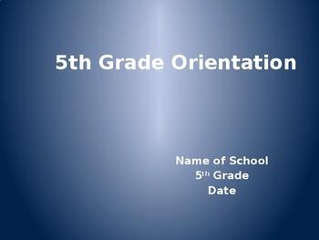 5th Grade Orientation Presentation