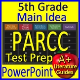 5th Grade PARCC Test Prep Main Idea and Citing Evidence Review Game