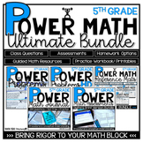5th Grade Math Questions YEARLONG BUNDLE Assessments, Printables, and More!
