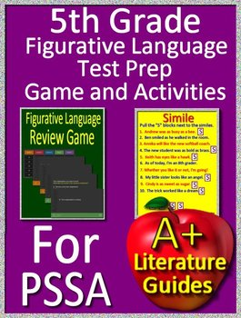 5th Grade PSSA Test Prep - Figurative Language Game and Google Activities