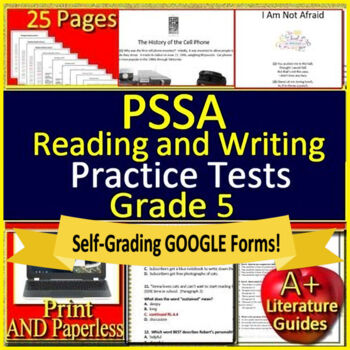 5th Grade PSSA Test Prep Reading and Writing Practice Tests for Language Arts