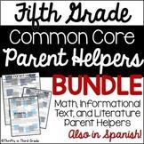 5th Grade Parent Helper Bundle {Common Core Aligned}