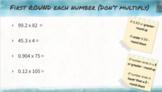 5th Grade Pear Deck lesson: Estimate Decimal Products