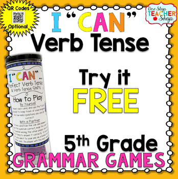 5th Grade Perfect Verb Tense Game FREE | I CAN Grammar Games