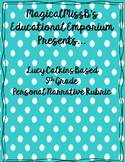 5th Grade Personal Narrative Rubric- EDITABLE!
