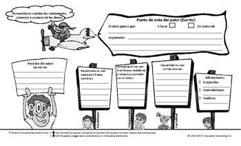 5th Grade Persuasive Oganizer TEKS-Based Spanish