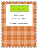 5th Grade Photosynthesis Vocabulary Packet