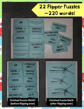 5th Grade Physical, Earth, and Life Science STAAR Vocabulary Puzzles Bundle