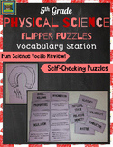 5th Grade Physical Science STAAR Puzzles--Matter, Solutions, Light, Circuits