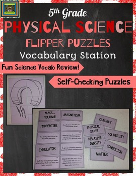 5th Grade Physical Science STAAR Puzzles--Matter, Solution