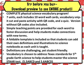 5th Grade Physical Science STAAR-Matter, Solutions, Light Energy, Circuits*PDF