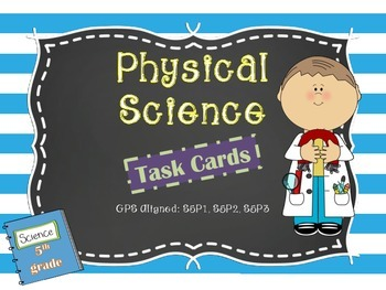 TEST PREP: DIFFERENTIATED Physical Science Review Task Cards with QR Codes