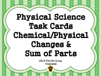 5th grade physical science task cards sum of parts s5p1 chemical physical s5p2. Black Bedroom Furniture Sets. Home Design Ideas