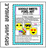 5th Grade Pixel Art -Growing Bundle | Self-Correcting-Good