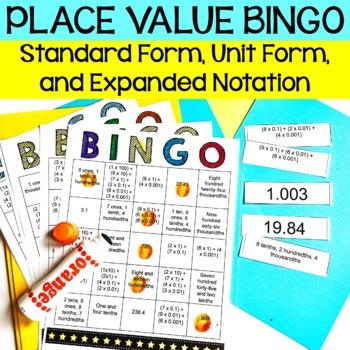 5th Grade Place Value BINGO