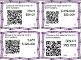 Math Bundle 5th Place Value Common Core Task Cards {QR Codes} 5.NBT.1-4