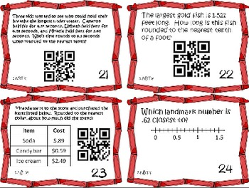 Math Bundle 5th Place Value Common Core Task Cards {QR Codes} 5.NBT.1-4