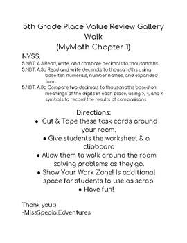 5th Grade Place Value Gallery Walk