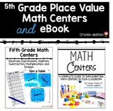 5th Grade Place Value Math Centers and eBook BUNDLE