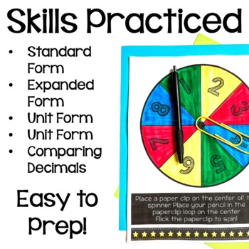 5th Grade Place Value Math Games Bundle