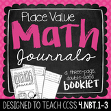 4th Grade Place Value Math Journal