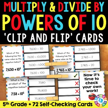 5th Grade Place Value: Multiply & Divide by Powers of 10 w/ Exponents (5.NBT.2)