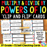 5th Grade Place Value: Multiply & Divide by Powers of 10 w/ Exponents {5.NBT.2}