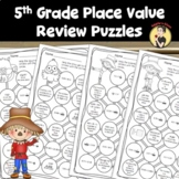 5th Grade Place Value Review Puzzles