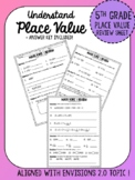 5th Grade Place Value Review Sheet- Aligns to Envisions 2.0