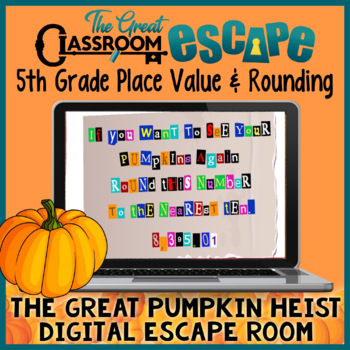 5th Grade Place Value & Rounding with Decimals Digital Breakout Fall/Halloween