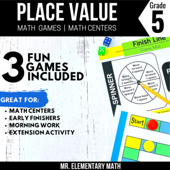 Place Value System Games and Centers 5th Grade