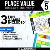 5th Grade Decimal Place Value Games and Centers