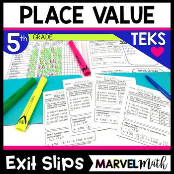 5th Grade Place Value TEKS Exit Slips