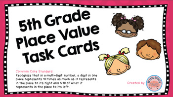 5th Grade Place Value Task Cards