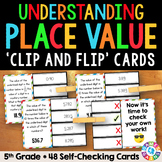 5th Grade Place Value Activity: Comparing Digit Values Task Cards {5.NBT.1}