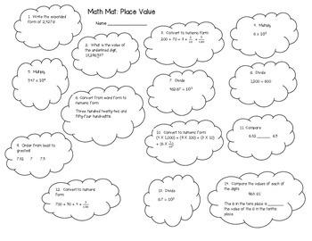 5th Grade Place Value Unit