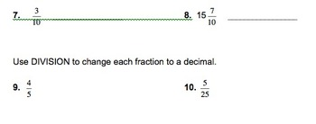 5th Grade Place Value Whole Numbers to Decimals Worksheets