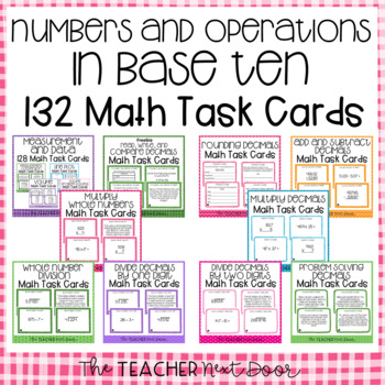 Place Value and Decimals Task Card Bundle for 5th Grade