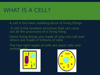 5th Grade Plant and Animal Cells PowerPoint