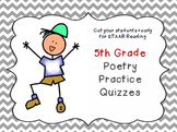 5th Grade Poetry Practice Quizzes