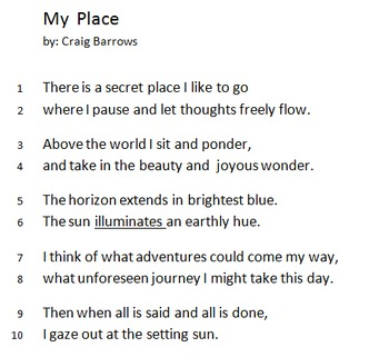 5th Grade Poetry Practice Quizzes