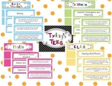 "5th Grade Polka Dot Themed TEKS ""I Can"" Statement Poster Bundle"