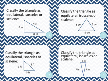 5th Grade Polygons Triangles and Quadrilaterals Math Task Cards