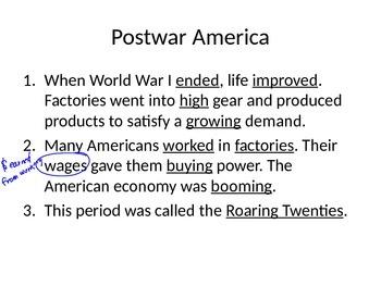 5th Grade Postwar America Bundle