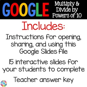 5th Grade Powers of 10 Digital Practice {5.NBT.2} - Use with Google Classroom