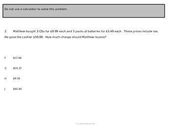 5th Grade Practice Math SOL