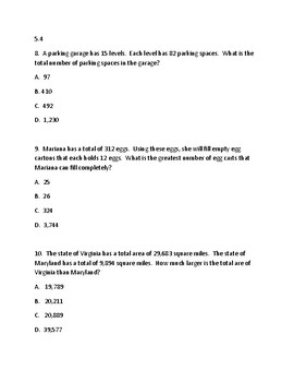 5th Grade Practice SOL Test (50 Questions)