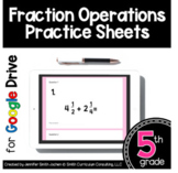 5th Grade Practice Sheets Fraction Operations|  Google For