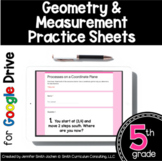 5th Grade Practice Sheets Geometry & Measurement Google Fo